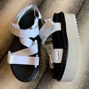 { Dr Martens } Kimber White Platform Strap Sandal